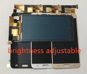 23cab588a75 Digitalizador de pantalla táctil de vidrio + Panel de la pantalla LCD de la  Asamblea para Samsung Galaxy J7 2015 j700 J700F J700FN J700M J700H /DS