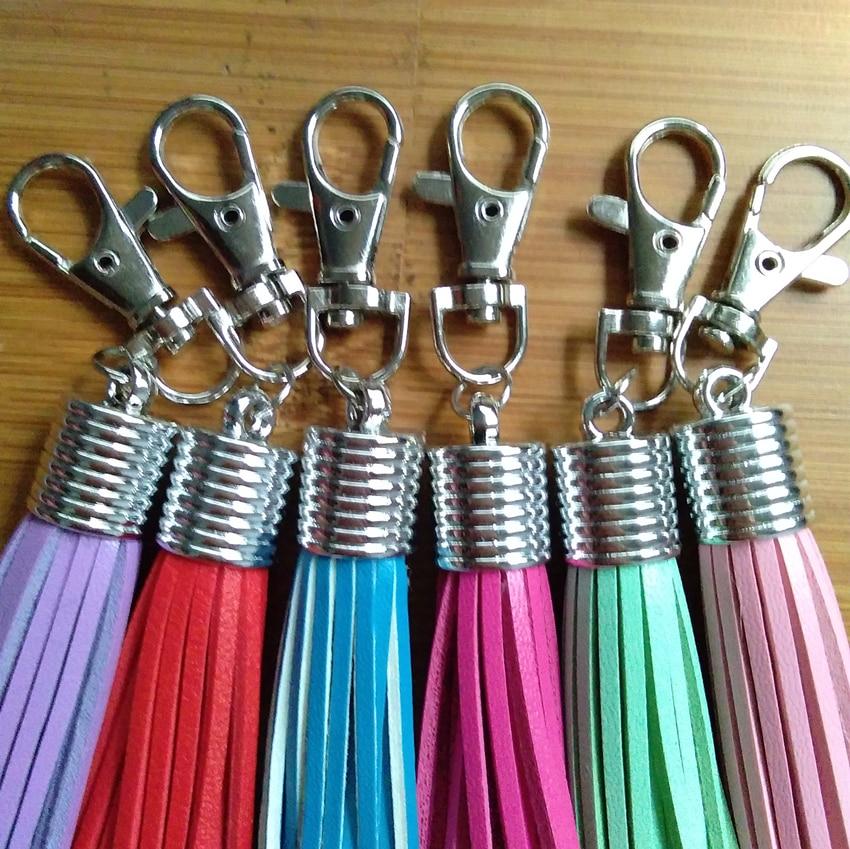 Høj kvalitet Mini Cute Læder kvaster Nøglering Kobber Klem - Mode smykker - Foto 3