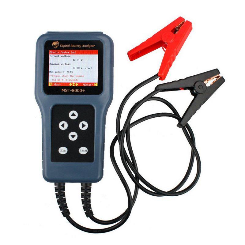 MST 8000 probador de batería de coche herramientas Multi idioma 12V 12V batería Auto herramienta de diagnóstico apoyo 12V Digital Analizador de bateríaMedidores de batería   -