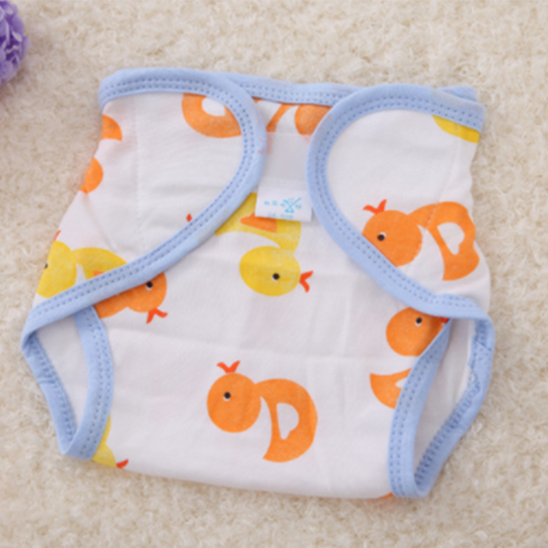 Baby Diapers Panties Nappy Training-Pants Washable Children Cotton Cute 1pcs Changing