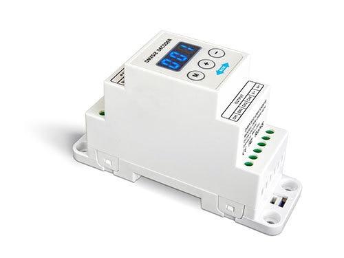 DIN-DMX-4CH;4CH CV DMX Decoder;DC5-24V input;4A*4CH output din dmx 4ch 4ch cv rdm dmx decoder dc5 24v input 4a 4ch output