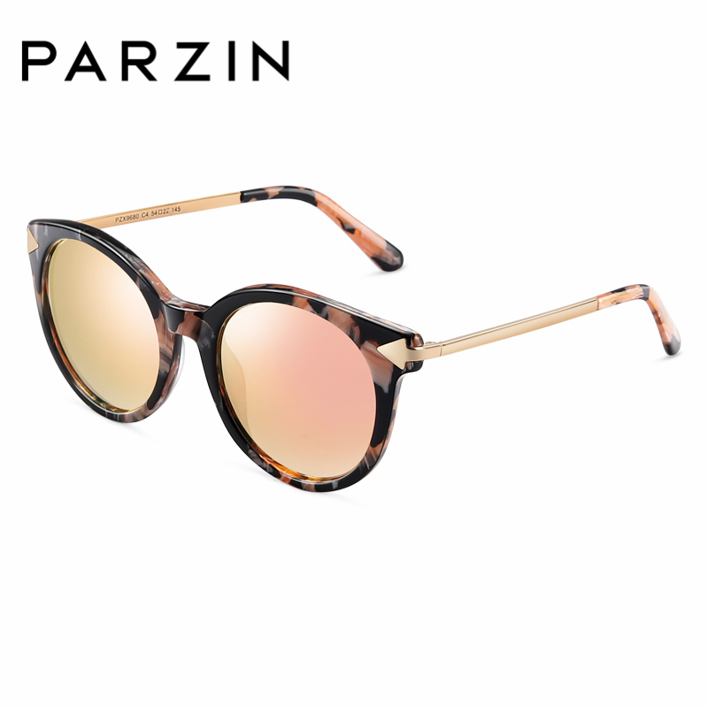 PARZIN Brand For Women Summer Sunglasses Round Frame Polarized Sunglasses High Quality Coating