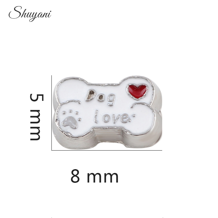 Fashion Style Dog Favourite Bone Charms Fit Locket Pendant Necklace Jewelry DIY Making Gifts