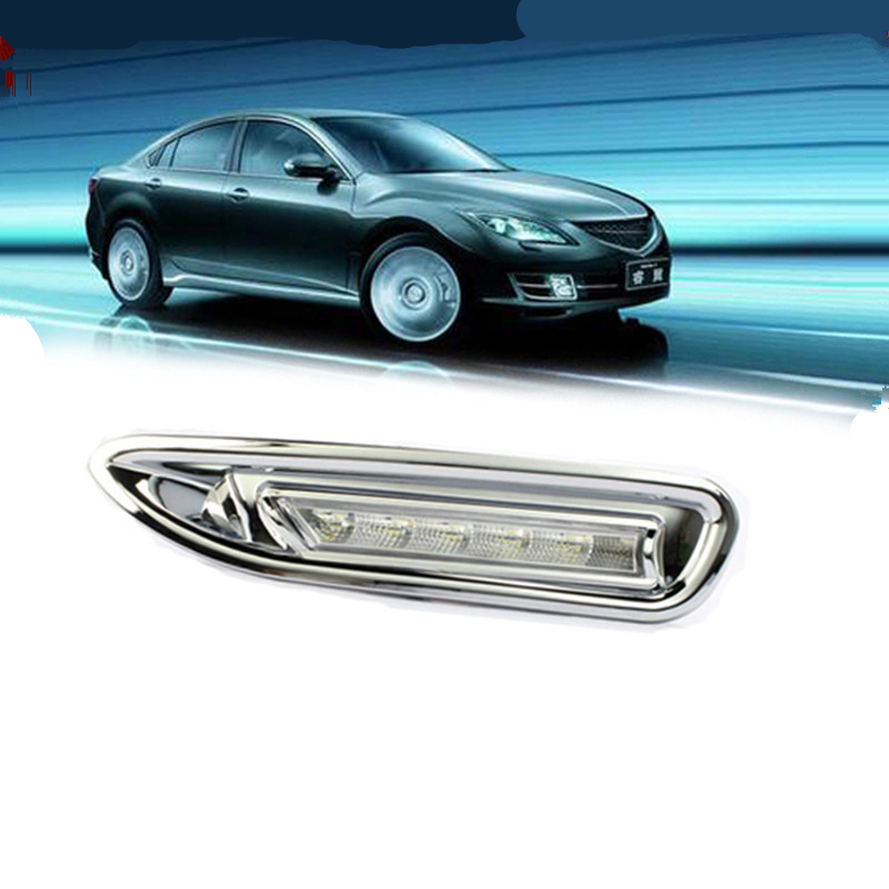 Tcart for mazda 6 2010 2011 2012 2013 car DRL light Daytime running light For Mazda 6 core-wing DRL white color 12v very bright car led daytime running light for mazda 3 axela fog lamp drl 2010 2011 2012 2013 white yellow