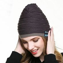 8eb80691fa7 Bluetooth Music Warm Rechargeable Running Hat Cap Double Knit Cap Wireless  Stereo Headphone Cap Sportswear(