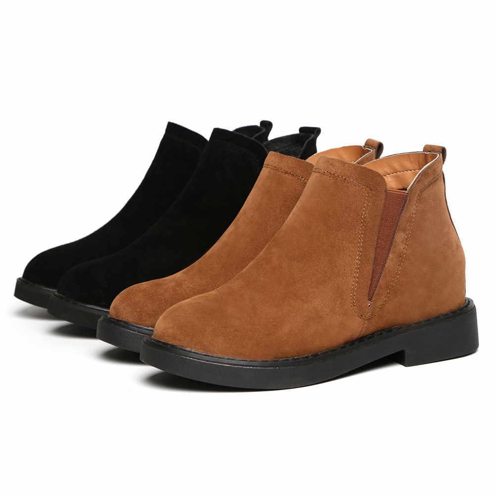 YOUYEDIAN kışlık botlar kadınlar 2018 moda ayakkabılar kadın siyah bayan botları chaussures femme automne 2018 botas altas mujer #3