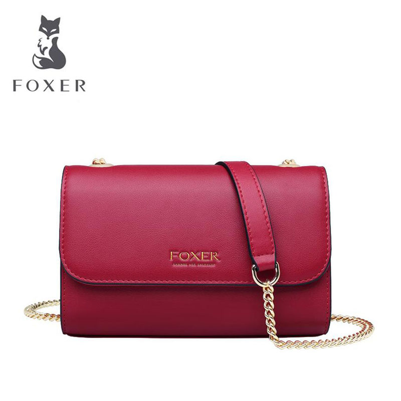 FOXER mini chain bag female 2019 new wave summer fashion wild shoulder simple Messenger small square bagFOXER mini chain bag female 2019 new wave summer fashion wild shoulder simple Messenger small square bag
