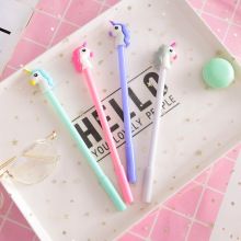 24 Pcs Heart Cartoon Unicorn Neutral Pen Student Signature Writing Exam Pen Office Black Kawaii School Supplies