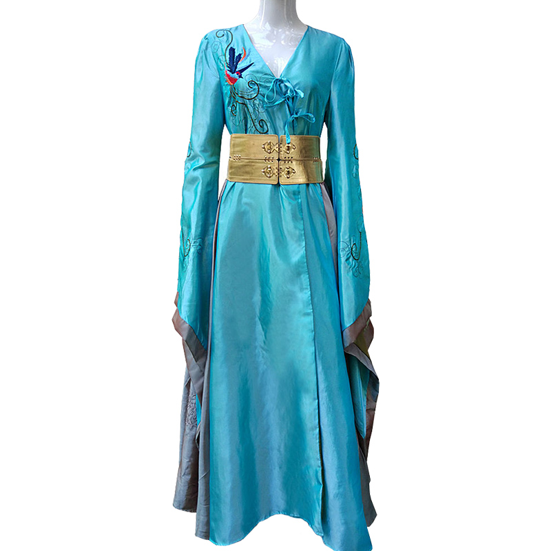 Hot Movie Game of Thrones Cosplay Cersei Lannister Costume Adult Women Cosplay Cersei Dress Halloween Carnival Costume