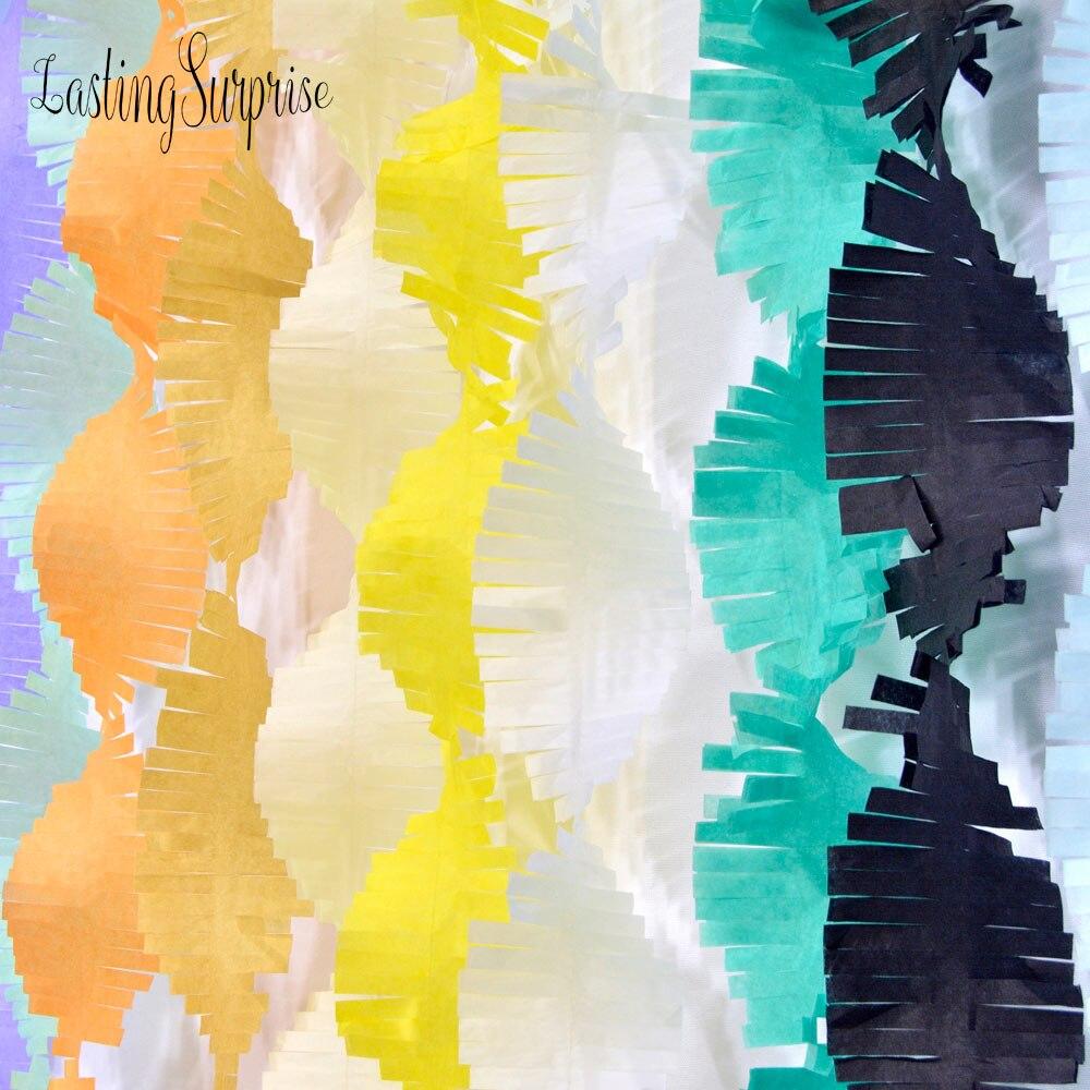 3M Paper Garland Party Streamers Tissue Fringe DIY Tassel Curtain Photo Backdrop Wedding