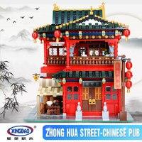 IN STOCK Xingbao 01002 3267Pcs MOC Creative Series The Beautiful Tavern Set Educational Building Blocks Bricks
