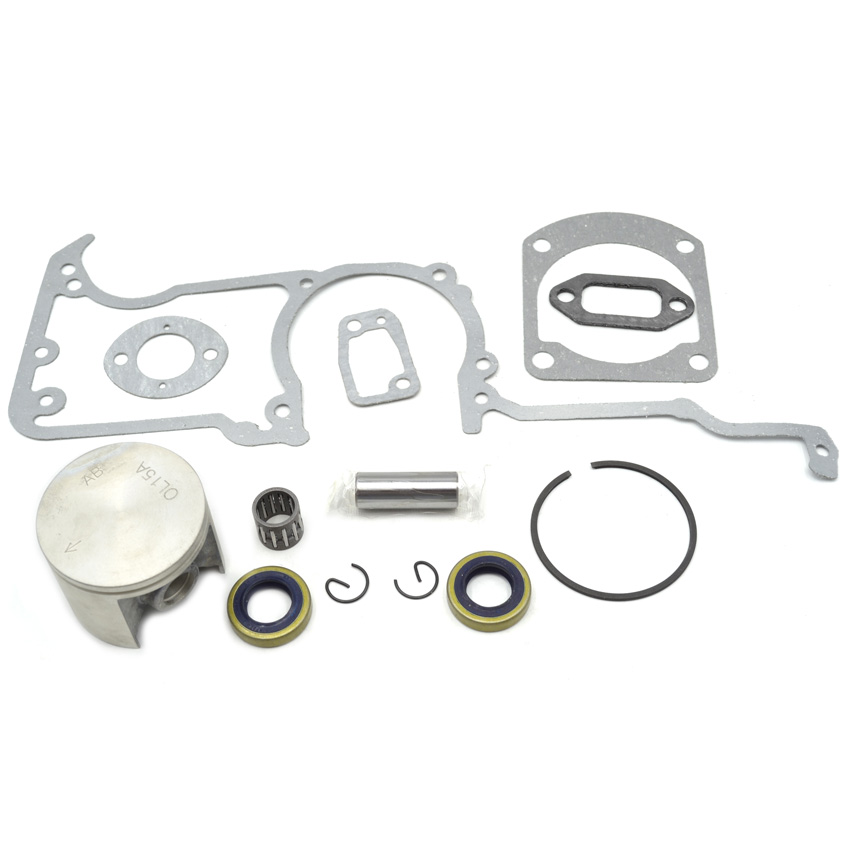 Chainsaw Oil Seal Piston Kit Rings Crankcase Cylinder Carburetor Muffler Gasket Kit fits Husqvarna 268 Replace chainsaw piston kit with 50mm 1 5mm rings fits husqvarna 268 oem 544 22 39 03