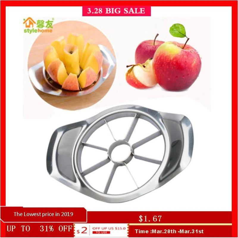 Cuisine Gadgets acier inoxydable coupe-pommes trancheuse légume Fruit Outils accessoires de cuisine Apple Coupe Facile Coupeur