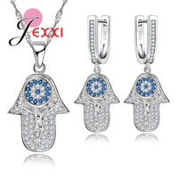 JEXXI Elegance Jewelry Set For Lover Women True Silver Necklace Pendent And Earrings For Engagement Party