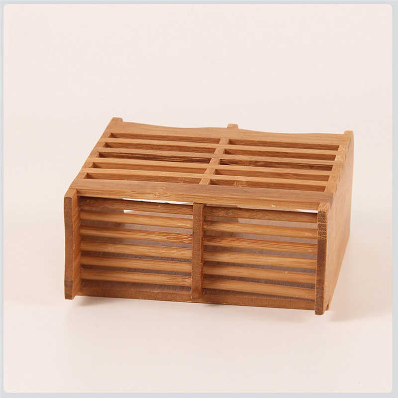 Image 2 - Creative High Quality Storage Rack Bamboo Chopsticks Cage Multi function Kitchen Cutlery Storage Rack Drain Rack Shower Shelf-in Racks & Holders from Home & Garden