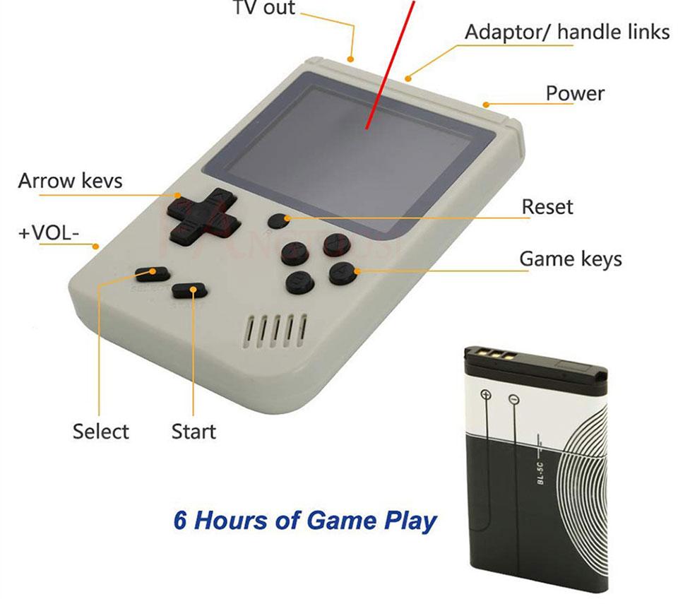 Consola de videojuegos FANGTUOSI 8 bits 12