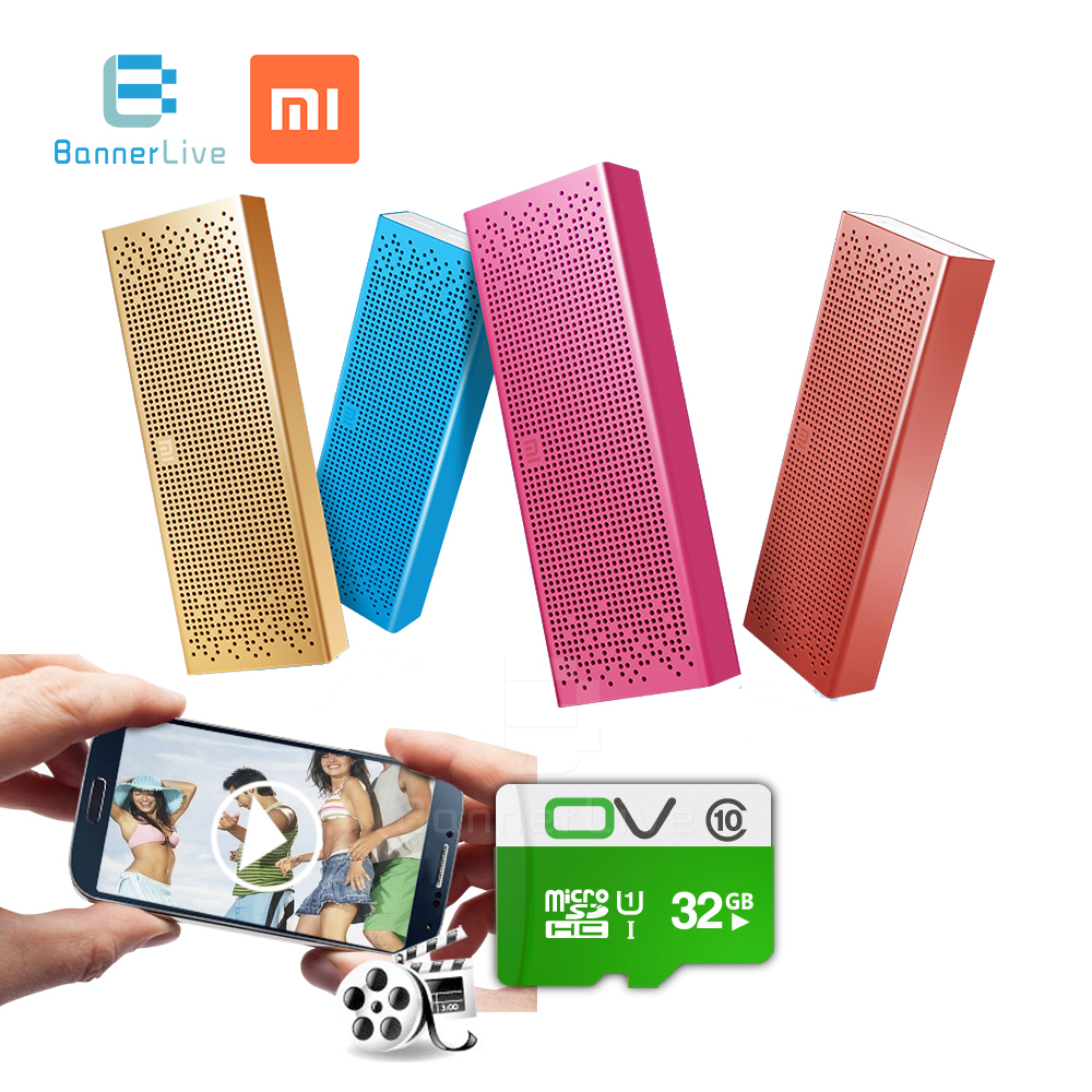 Original Xiaomi Mi Bluetooth Speaker Wireless AUX-in Handsfree Stereo Mini Portable MP3 Player Pocket Audio Support TF Card original xiaomi bluetooth speaker wireless stereo mini portable mp3 player hands free phone support sd card for iphone xiaomi