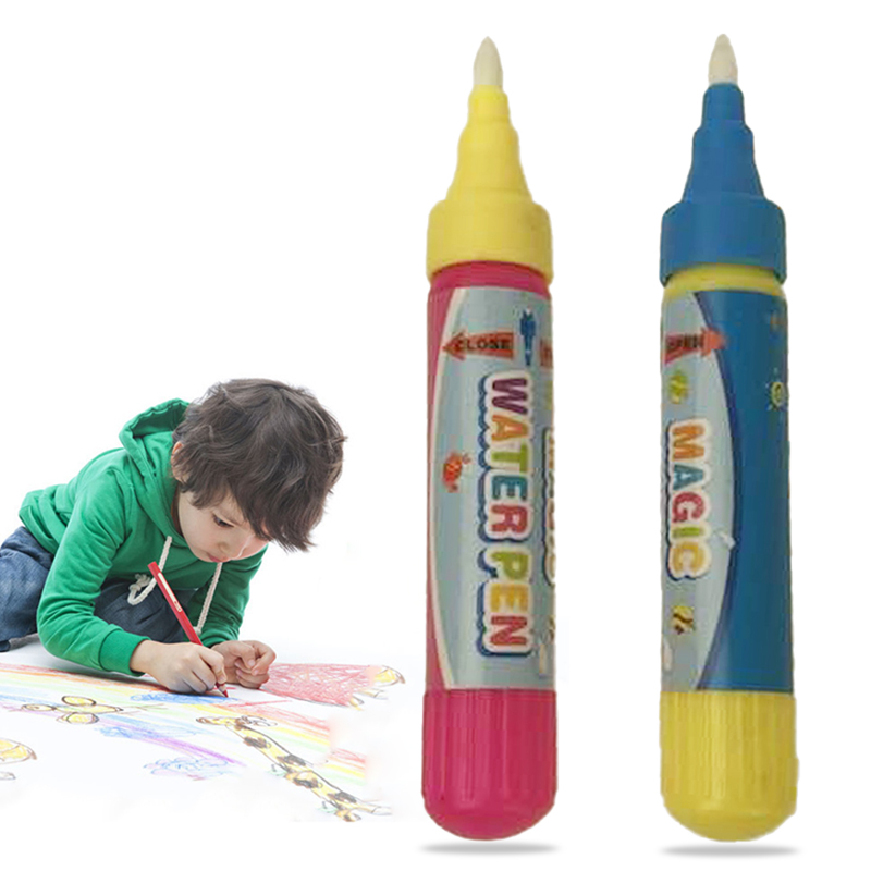 1 pc Reusable Water Brush Pen Kids Drawing Toy Magic Water Graffiti Doodle Pen Non Toxic Clear Water Painting Cloth Pen Baby Toy