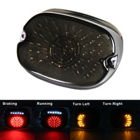 FADUIES Smoke LED Tail Light For Harley Sportster Dyna Electra Glide Road King Low Rider/sportster softail night train fat boy