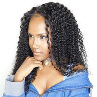 Kinky Curly Wig Pre Plucked Full Lace Human Hair Wigs With Baby Hair Brazilian Glueless Full Lace Wig For Women SunnyQueen Remy