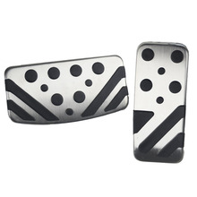 Car Clutch Brake Accelerator Pedal Foot Rest Pedals Covers For Mitsubishi ASX LANCER EX Outlander Car Styling Sticker Cover