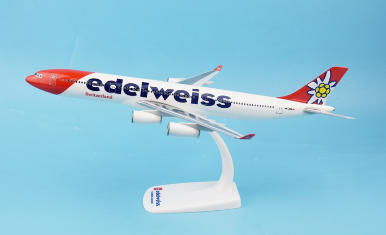 New Herpa 1:200 611336 Edelweiss Air A340-300 HB-JMB Resin model Collection model edelweiss scorpion 1