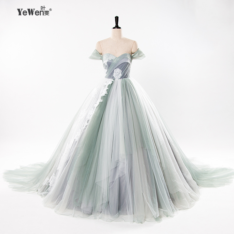 Ball Gown Beach royal blue Colorful boho wedding Dresses bride Gowns ...