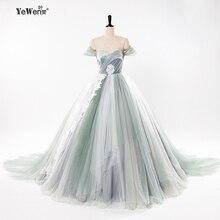 Ball Gown Beach royal blue Colorful boho wedding Dresses bride Gowns Robe De Mariage 2018 vestidos