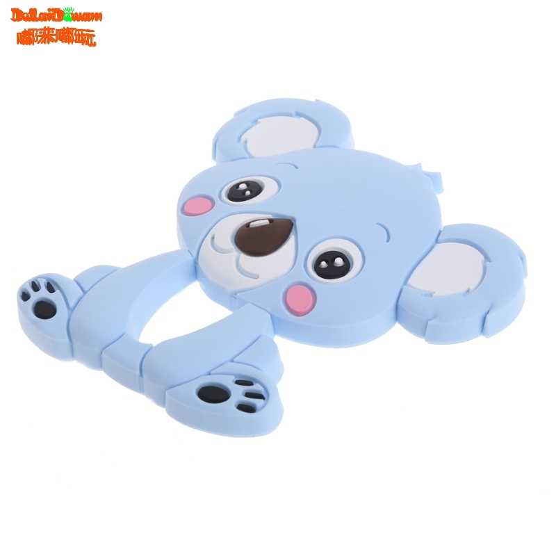 Bear Baby Teethers Silicone Teething Toys Silicone Chew Charms Baby Bpa Free Silicone Teethers Diy Necklace Pendant