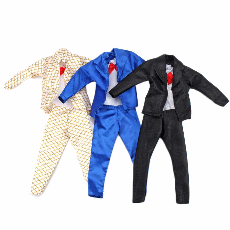 Besegad 5 Define Moda Mini Homens Menino Boneca Calças Outfits Ternos Coats Jaqueta Casual Wear Roupa Da Boneca Acessórios para Barbie ken Brinquedo