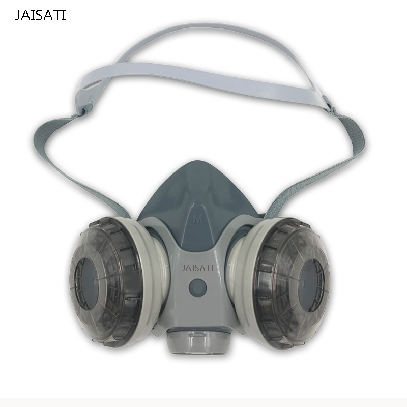 Double gas tank filter dust masks breathing valve anti - industrial dust labor protection mask outdoor gas recharging valve for flat gas tank transparent silver 60cm