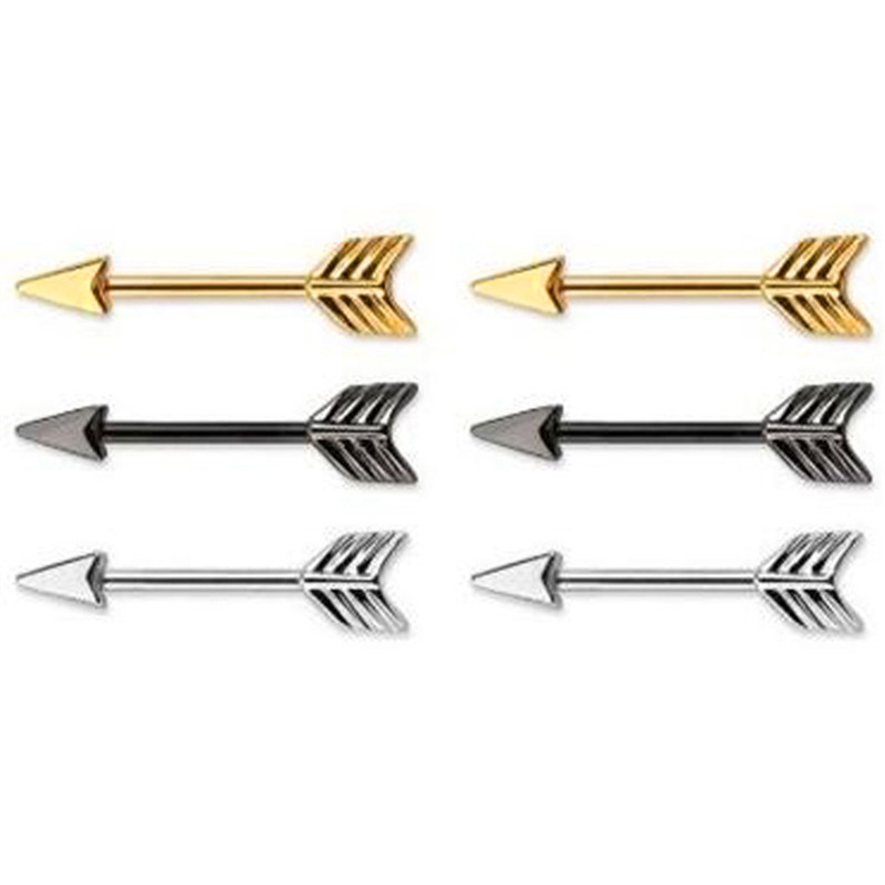 Nipple Ring Stainless Steel Shield Body Piercing Straight Spike Barbell Body Jewelry Gifts For Women 3 Colors