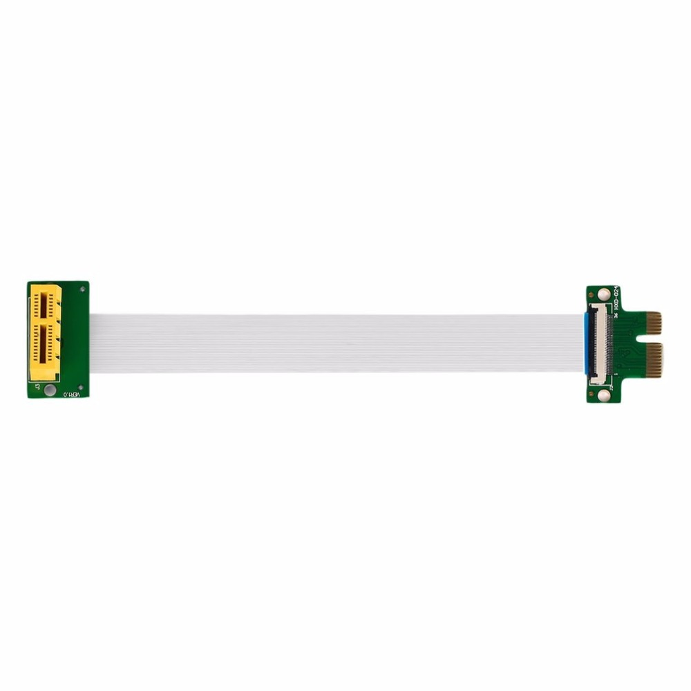 New PCI-E Express 1X Riser Extension Single Slot High Speed Cable With Power  Hot New