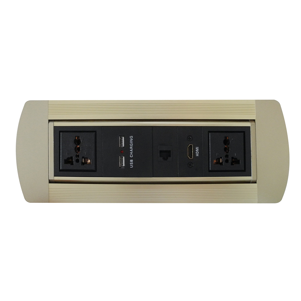 hot!Golden Manual flipping furniture power outlet / Universal power , USB Charger (offer customized)