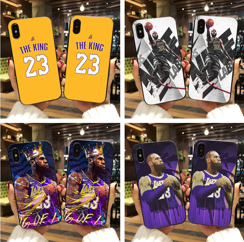 fe2ffa9f4369 Los Angeles Lakers LeBron James phone Case for iPhone 7 7plus 6 6splus 8  plus X ...