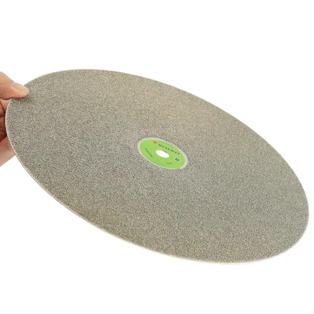 Disque de polissage lapidaire de roue plate diamantée de 12