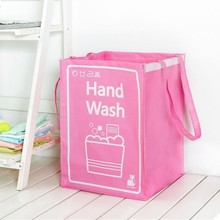 High quality knitting dirty clothes basket handle, toy, clothes, storage bag 32*42CM free shipping