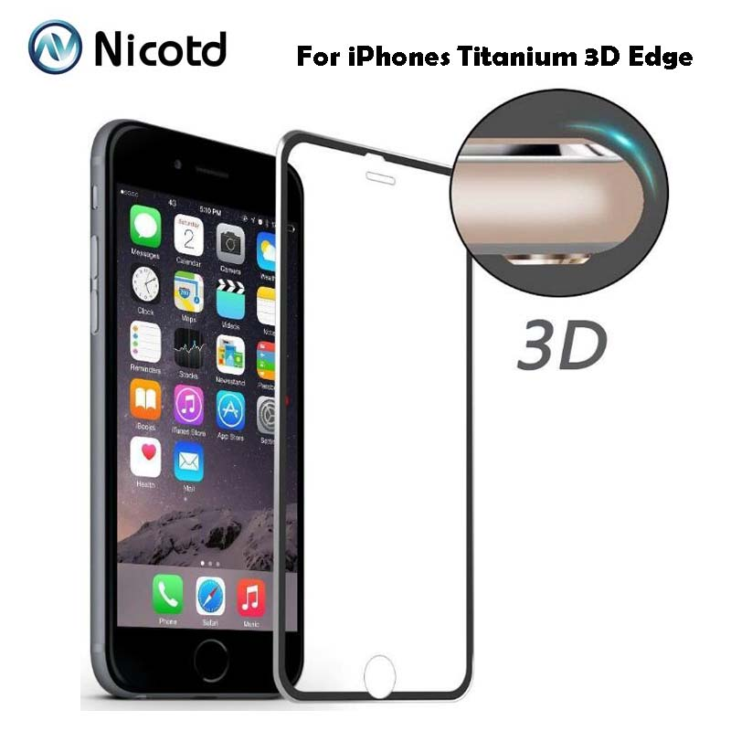 9H 3D Curved Tempered Glass Full Cover For IPhone 5 5s 5se SE Titanium Protective Film Screen Protector For IPhone 6 6s 7 8