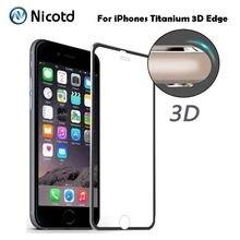 8a683188c14 Cubierta completa de cristal templado curvo 9 H 3D para iPhone 5 5S 5se  Protector de