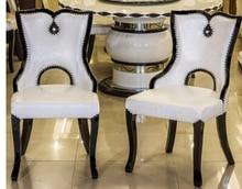 Cadeira preta. restaurante-estilo europeu cadeira de jantar em madeira maciça. moda comer cadeira assento