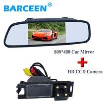 """Colorful hd sensor de imagen ccd cámara del estacionamiento del coche 4 led con 5 """"monitor de marcha atrás del coche para Hyundai IX35 2010/2012/tucson 2011"""