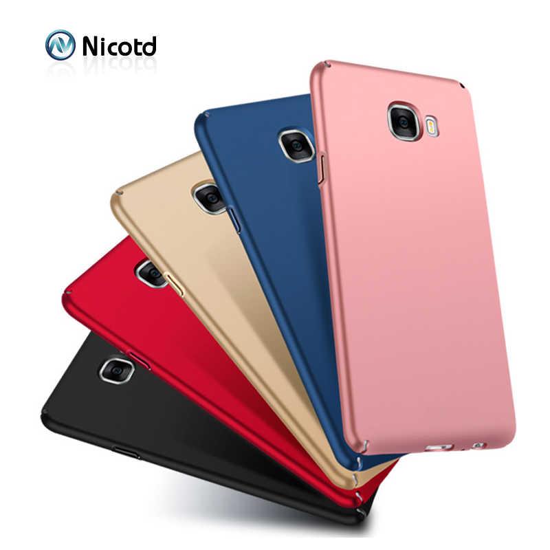 Nicotd Luxury cứng Nhựa Matte Case cho Samsung A3 A5 A7 2017 2016 Full Cover PC Điện Thoại Di Động Trường Hợp Cho Galaxy J3 J5 J7 2017