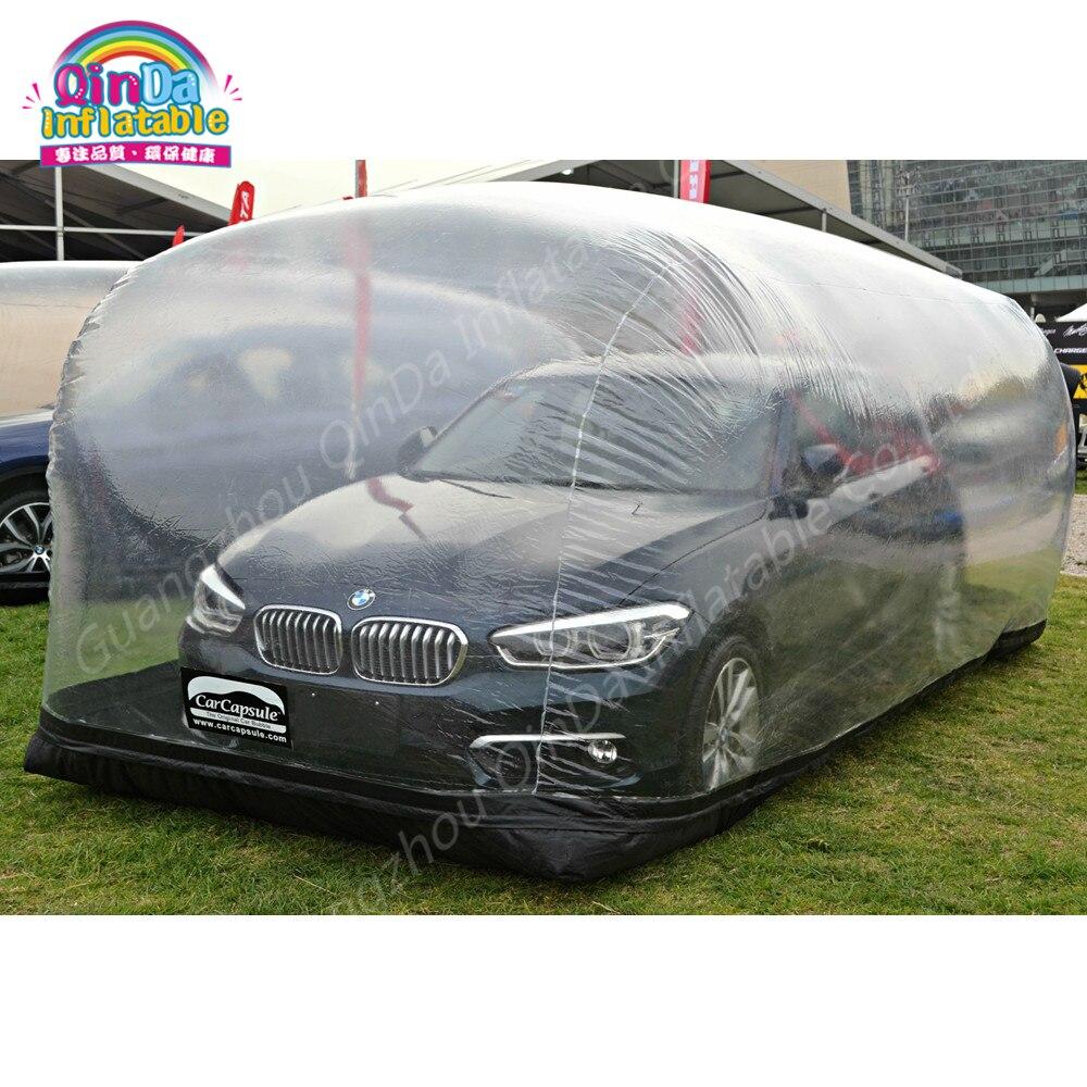 Vitrine gonflable de Capsule de voitures d'abri de voiture de PVC, tente transparente gonflable de preuve de la poussière pour la voiture, voiture de stockage
