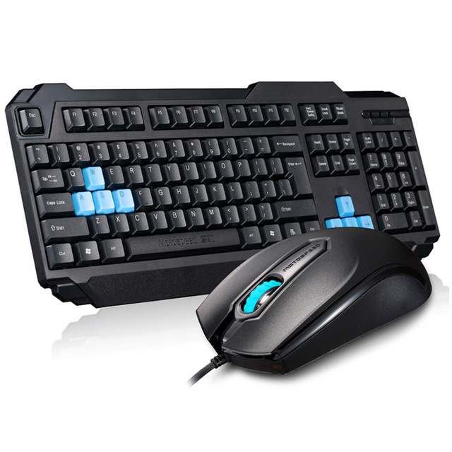 MOTOSPEED E-sport USB Wired Gaming Keyboard Mouse Combo Set Kit 1000DPI Gaming Mouse for Notebook PC Laptop Desktop Game Player