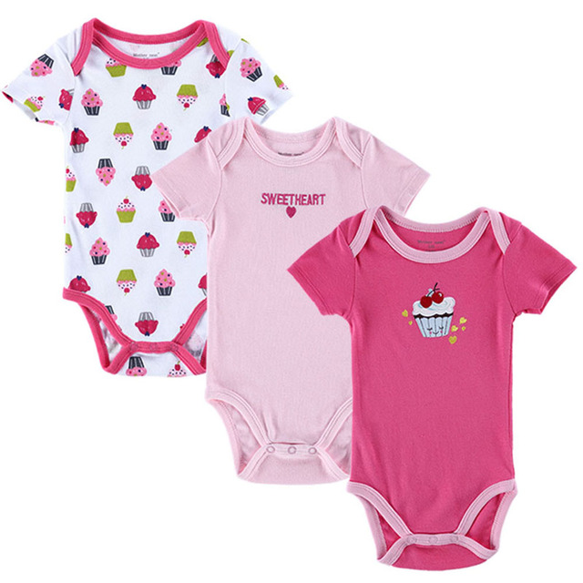 Hot Selling Baby Bodysuits Boy Girl Baby Clothes Summer Infant Short