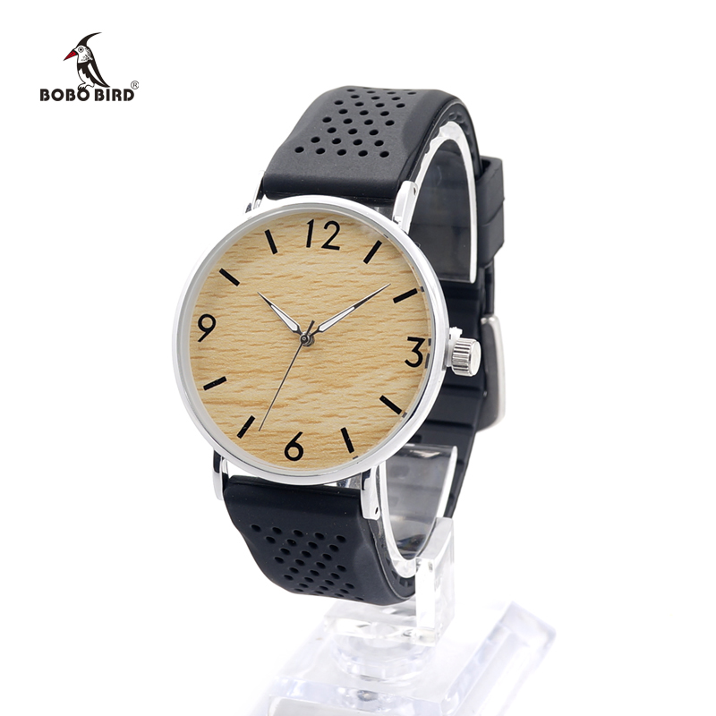 BOBO BIRD Men Watches Timepieces Silicone Strap Watch for Men and Women Casual Wristwatches Drop ShippingBOBO BIRD Men Watches Timepieces Silicone Strap Watch for Men and Women Casual Wristwatches Drop Shipping