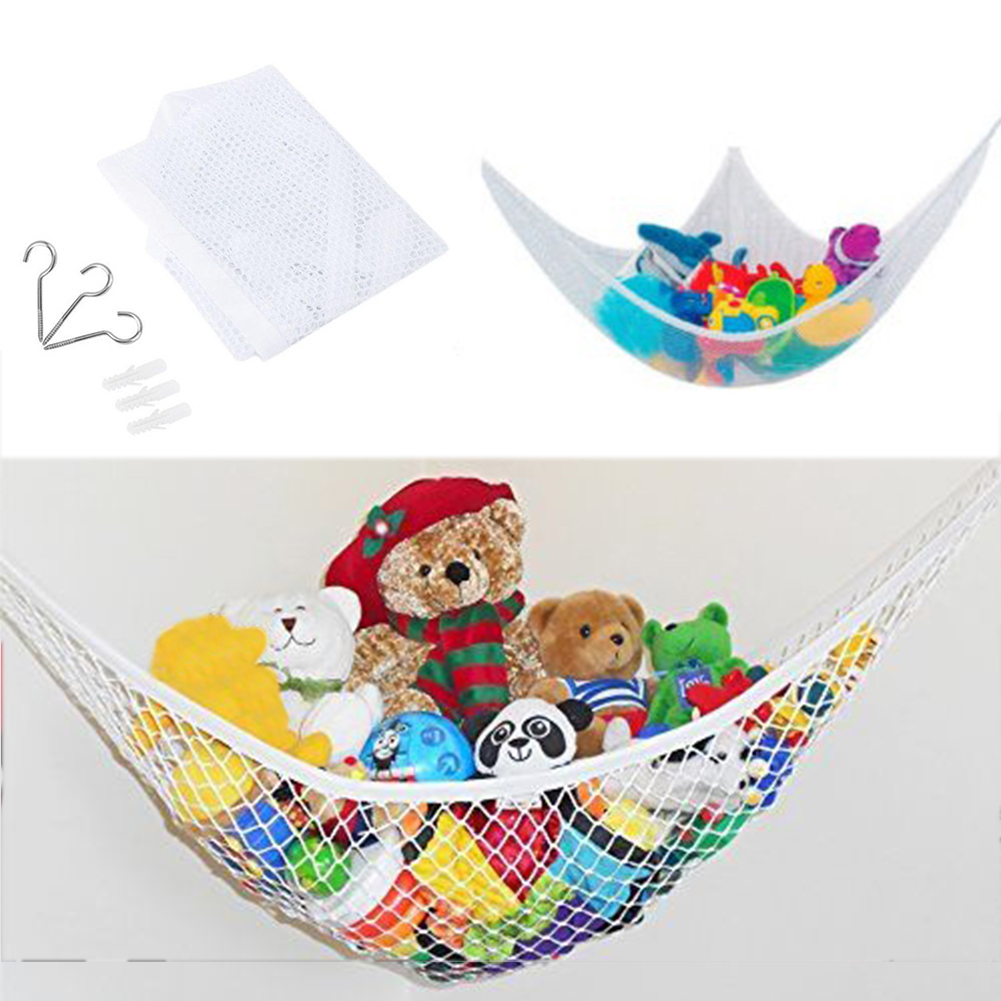 Organizer Stuffed Tidy Storage Teddy Childs Organize Large Bedding 25lbs Dolls Kids Soft Baby Bedroom Mesh Toy Hammock Animals Strollers Accessories