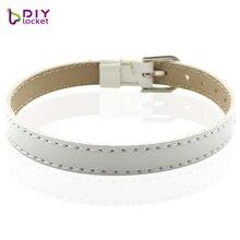 "10PCS 8MM leather bracelet unisex for charms DIY wristband bracelets for women"" Mix Color"" Fit slide letter LSBR015*10"