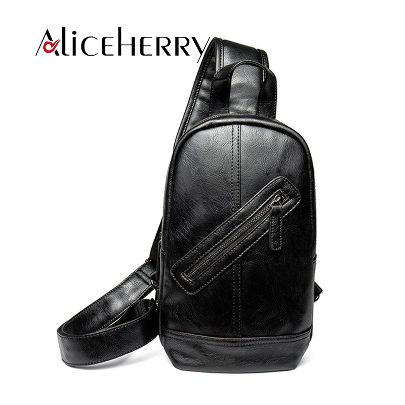 Men Leather Chest Bag Shoulder Bags For Men Business High-capacity Crossbody Casual Retro Travel Rucksack Bag