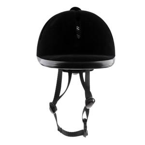 Image 3 - Horse Riding Helmet Velvet Equestrian Rider Safety Head Hat Body Protectors Riding Equipment For Kids Children 48 54cm